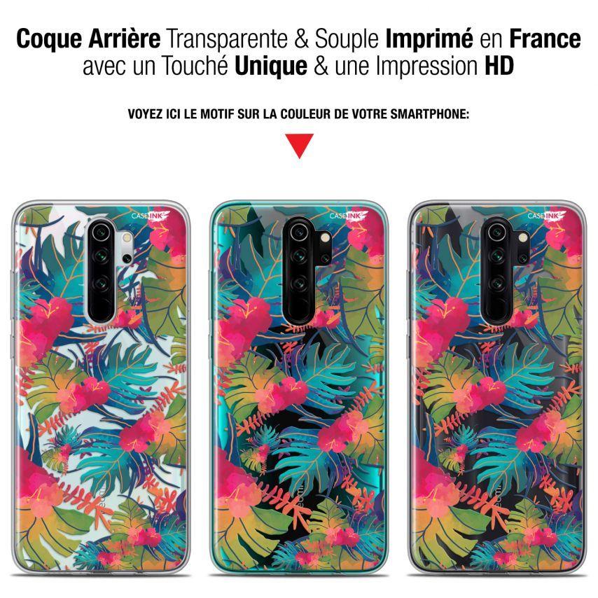 """Carcasa Gel Extra Fina Xiaomi Redmi Note 8 PRO (6.5"""") Design Couleurs des Tropiques"""