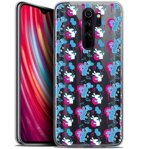 "Carcasa Gel Xiaomi Redmi Note 8 PRO (6.5"") Lapins Crétins™ Rugby Pattern"
