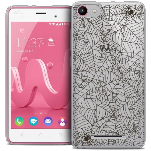 Carcasa Crystal Gel Extra Fina Wiko Jerry Halloween Spooky Spider