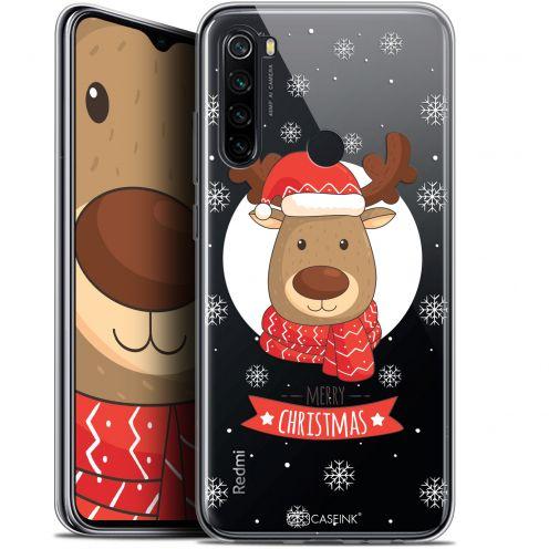 """Carcasa Gel Extra Fina Xiaomi Redmi Note 8 (6.3"""") Noël 2017 Cerf à Echarpe"""