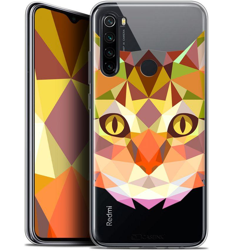 "Carcasa Gel Extra Fina Xiaomi Redmi Note 8 (6.3"") Polygon Animals Gato"