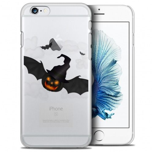 Carcasa Crystal Extra Fina iPhone 6/6s (4.7) Halloween Chauve Citrouille