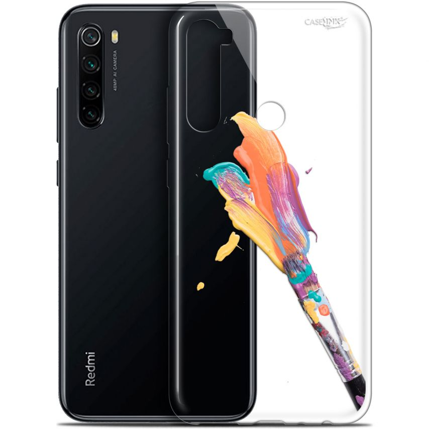"Carcasa Gel Extra Fina Xiaomi Redmi Note 8 (6.3"") Design Pinceau de Peinture"