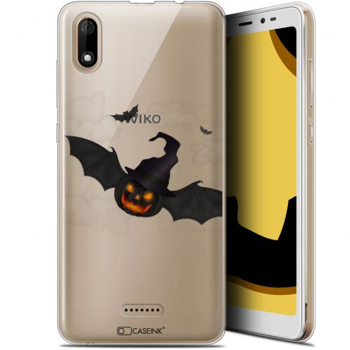 "Carcasa Gel Extra Fina Wiko Y60 (5.45"") Halloween Chauve Citrouille"