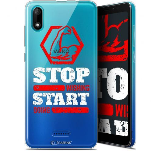 """Carcasa Gel Extra Fina Wiko Y60 (5.45"""") Quote Start Doing"""