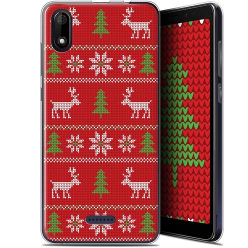 "Carcasa Gel Extra Fina Wiko Y60 (5.45"") Noël 2017 Couture Rouge"