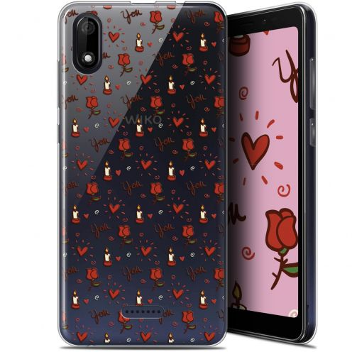 "Carcasa Gel Extra Fina Wiko Y60 (5.45"") Love Bougies et Roses"