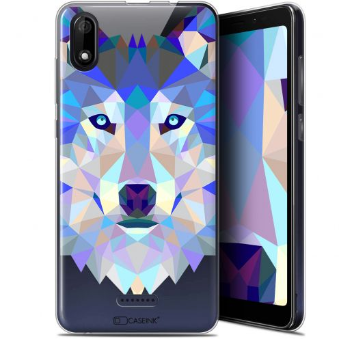 "Carcasa Gel Extra Fina Wiko Y60 (5.45"") Polygon Animals Lobo"