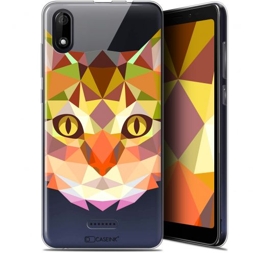 "Carcasa Gel Extra Fina Wiko Y60 (5.45"") Polygon Animals Gato"