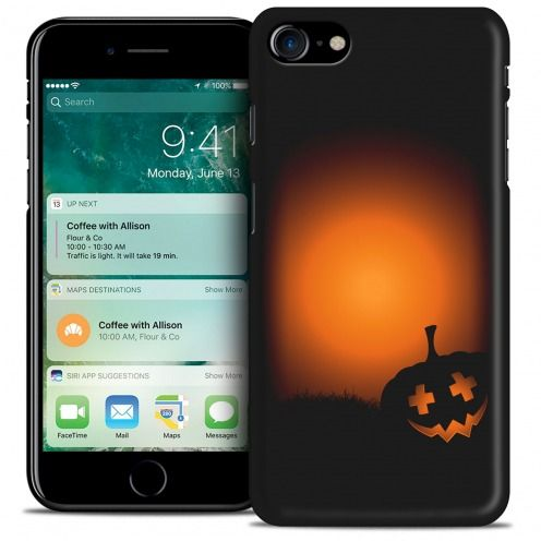 Carcasa iPhone 7 (4.7) Hallowen Extra Fina Coucher de Citrouille