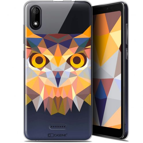 "Carcasa Gel Extra Fina Wiko Y60 (5.45"") Polygon Animals Búho"