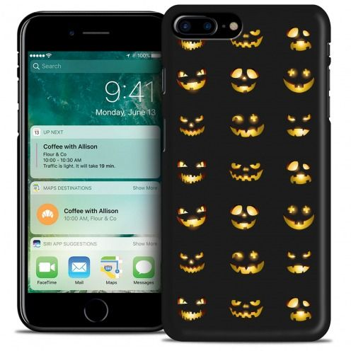 Carcasa iPhone 7/8 Plus (5.5) Hallowen Extra Fina Smiley Citrouille