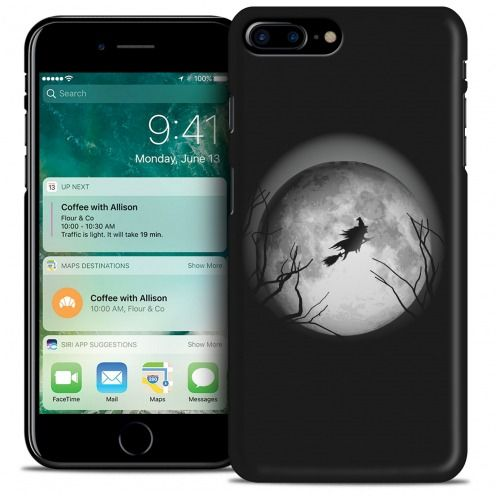 Carcasa iPhone 7 Plus (5.5) Hallowen Extra Fina Flying Sorciere