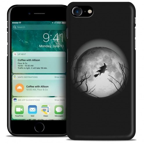 Carcasa iPhone 7 (4.7) Hallowen Extra Fina Flying Sorciere