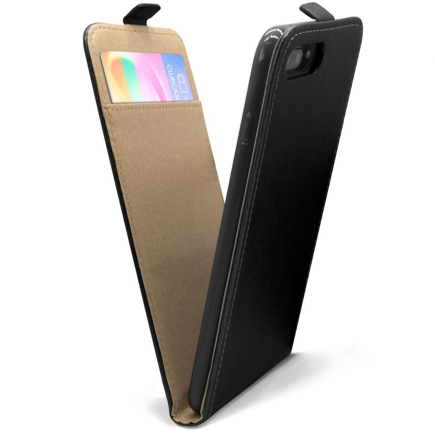 Funda Flexi Flip para Apple iPhone 7 Plus (5.5) Cuero Eco Negro