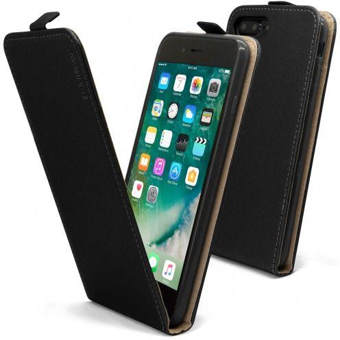 Funda Flexi Flippara Apple iPhone 7 Plus (5.5) Cuero EcoNegro