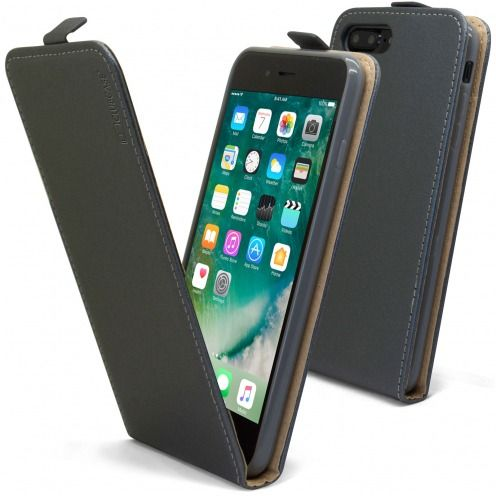 Funda Flexi Flip para Apple iPhone 7/8 Plus (5.5) Cuero Eco Graphite