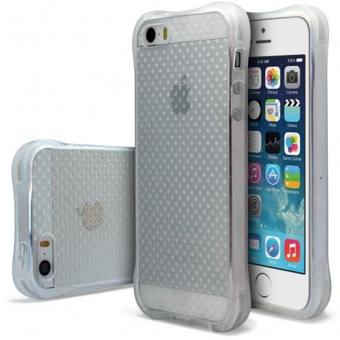Carcasa Anti-Choques Flexible Crystal SafeGuard para Apple iPhone SE/5/5s