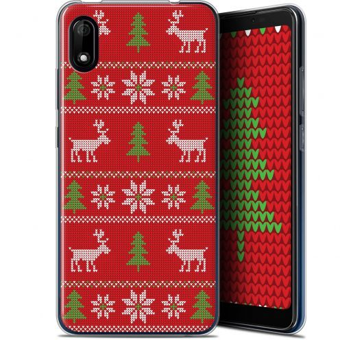 """Carcasa Gel Extra Fina Wiko Y70 (5.99"""") Noël 2017 Couture Rouge"""