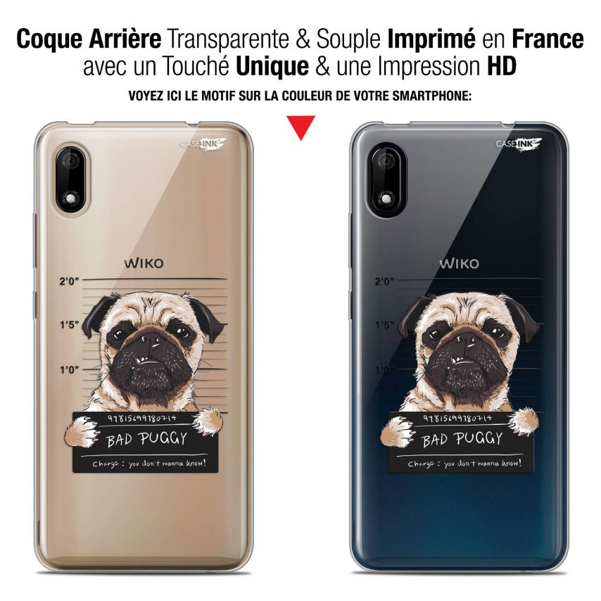 "Carcasa Gel Extra Fina Wiko Y70 (5.99"") Design Beware The Puggy Dog"