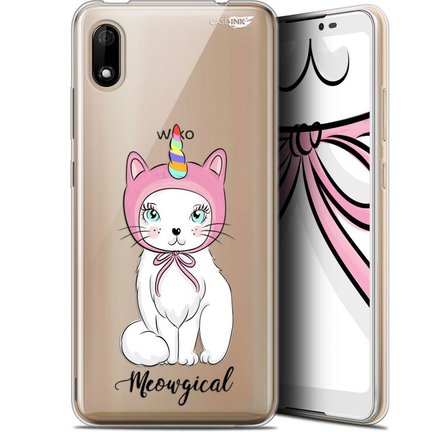 """Carcasa Gel Extra Fina Wiko Y70 (5.99"""") Design Ce Chat Est MEOUgical"""