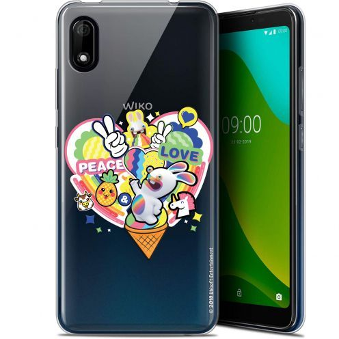 "Carcasa Gel Wiko Y70 (5.99"") Lapins Crétins™ Peace And Love"