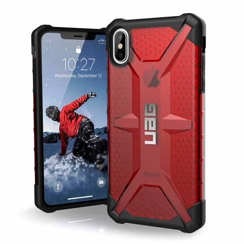 Funda Anti-Golpes iPhone XS Max Urban Armor Gear® UAG Plasma Rouge / Transparent