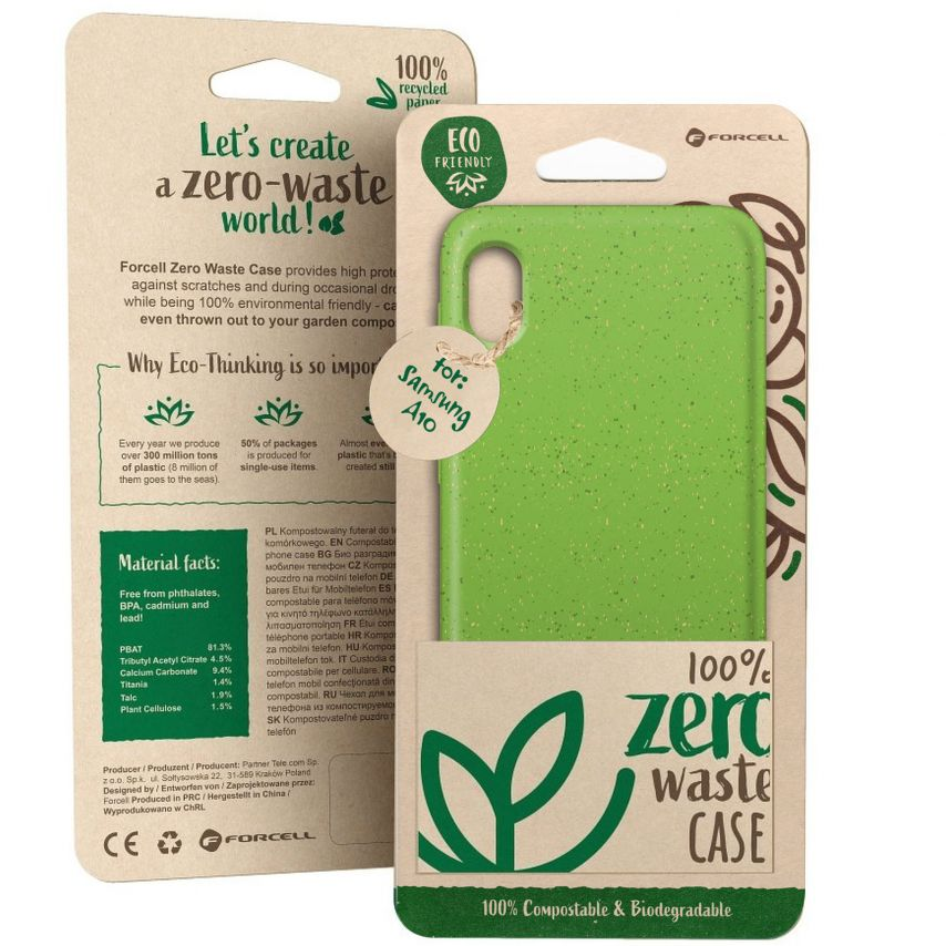 Carcasa Biodegradable ZERO Waste para Samsung Galaxy A10 Verde