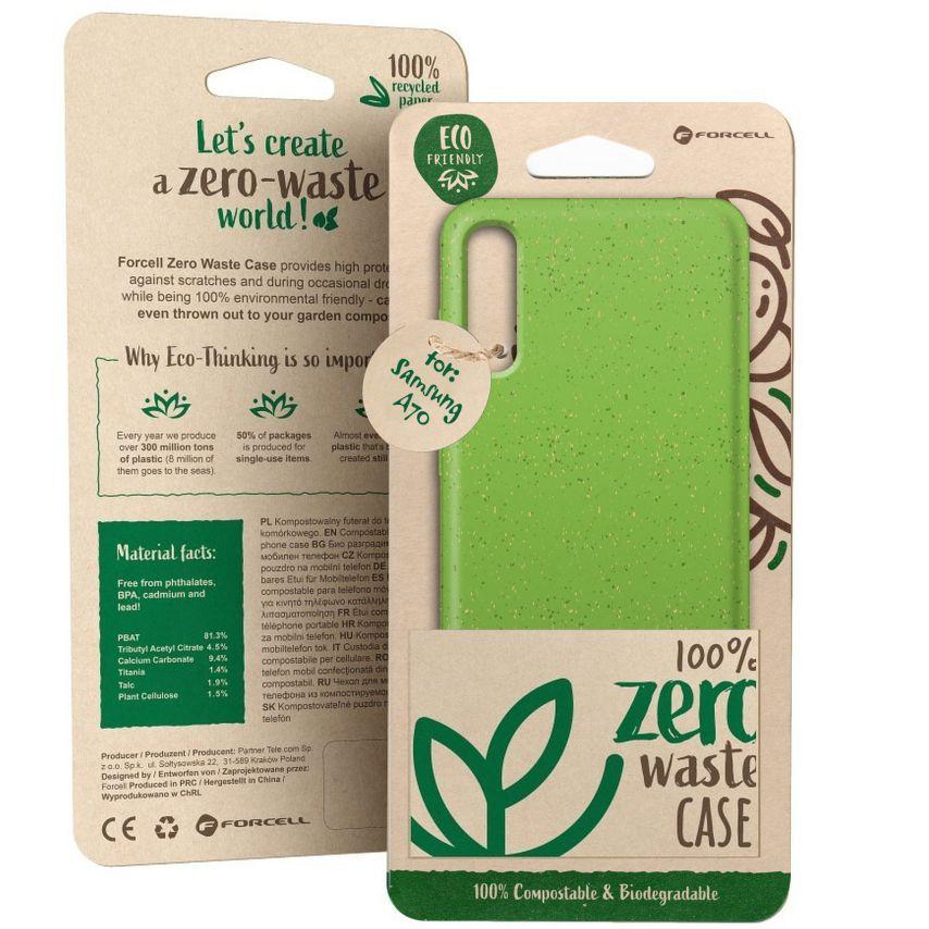 Carcasa Biodegradable ZERO Waste para Samsung Galaxy A70 Verde
