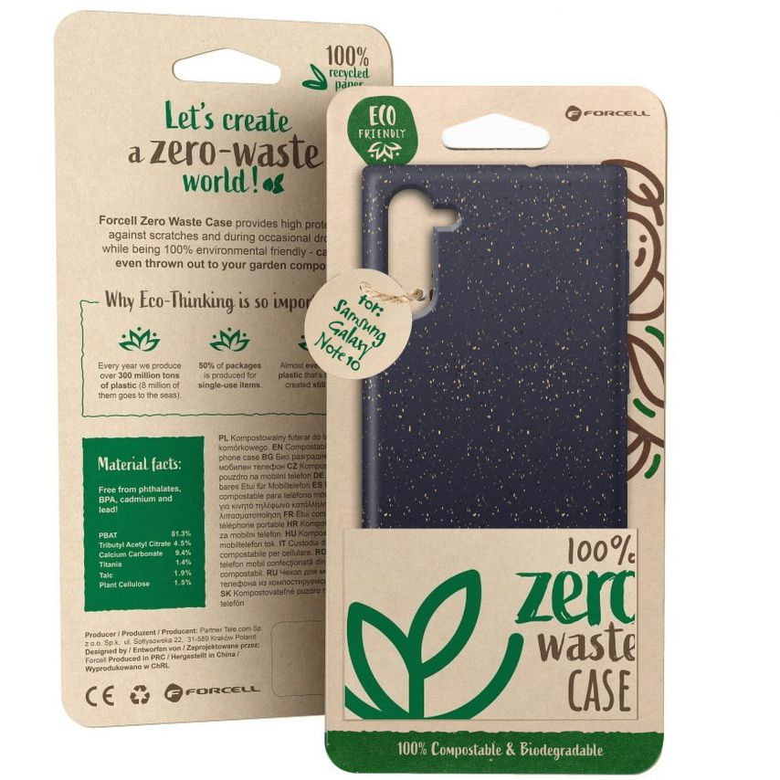 Carcasa Biodegradable ZERO Waste para Samsung Galaxy Note 10 Negro
