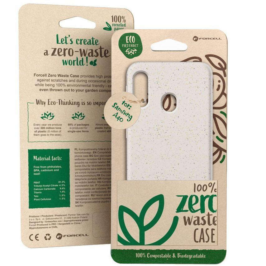 Carcasa Biodegradable ZERO Waste para Samsung Galaxy A40 Blanca