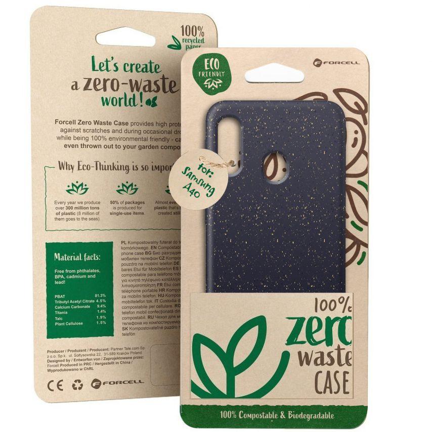 Carcasa Biodegradable ZERO Waste para Samsung Galaxy A40 Negro