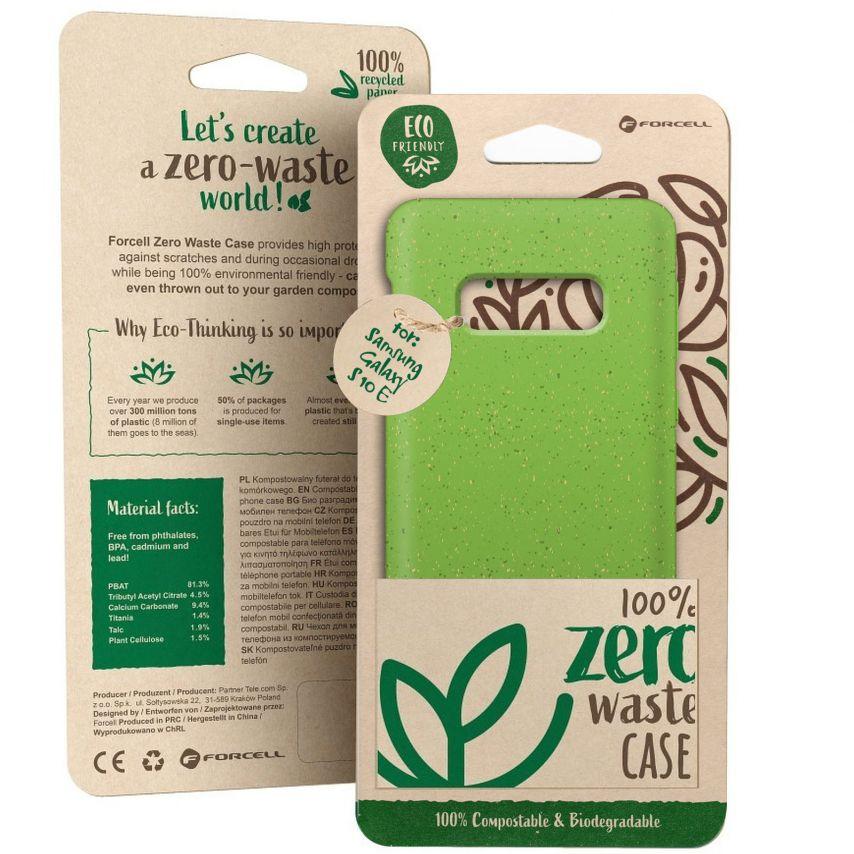 Carcasa Biodegradable ZERO Waste para Samsung Galaxy S10e Verde