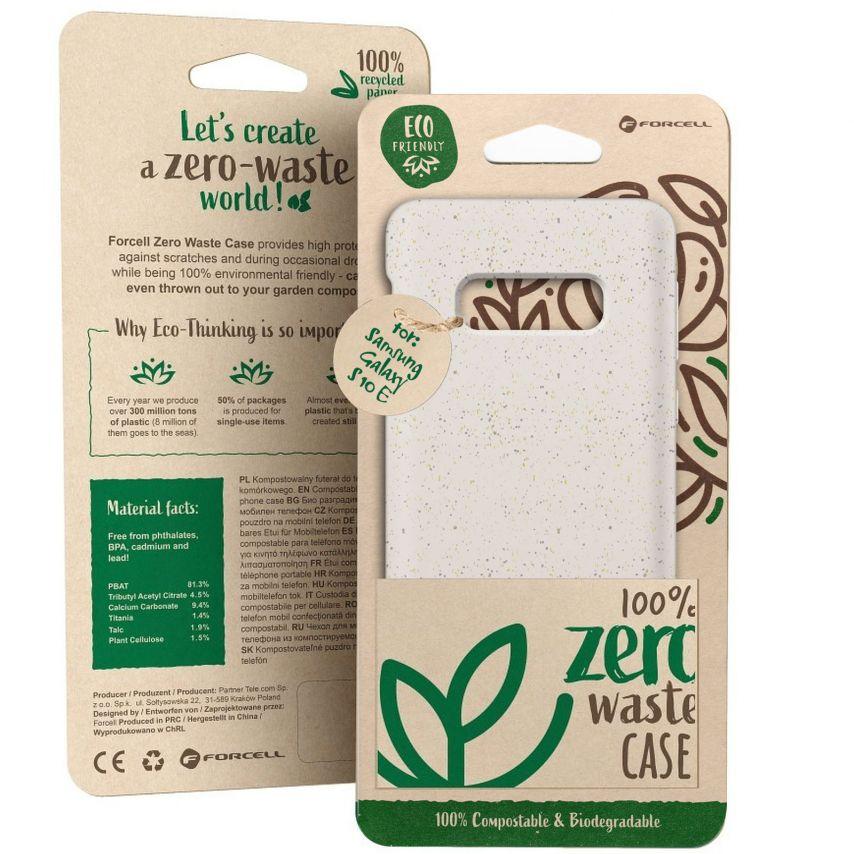 Carcasa Biodegradable ZERO Waste para Samsung Galaxy S10e Blanca