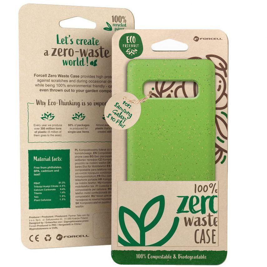 Carcasa Biodegradable ZERO Waste para Samsung Galaxy S10 Plus Verde