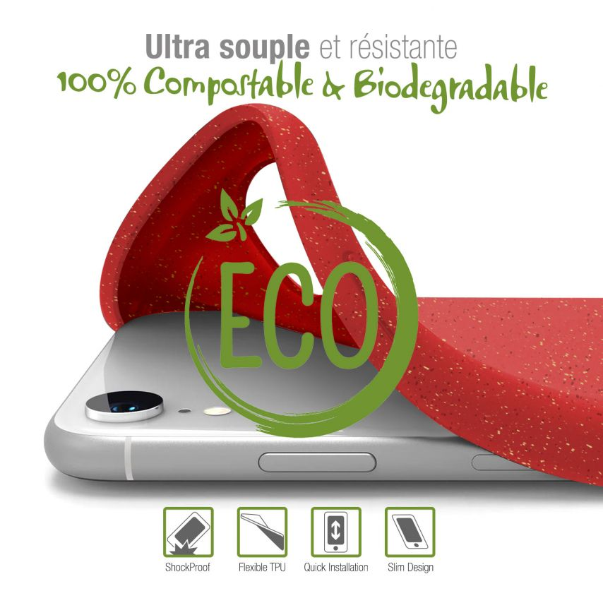 Carcasa Biodegradable ZERO Waste para Samsung Galaxy Note 10 Plus Roja