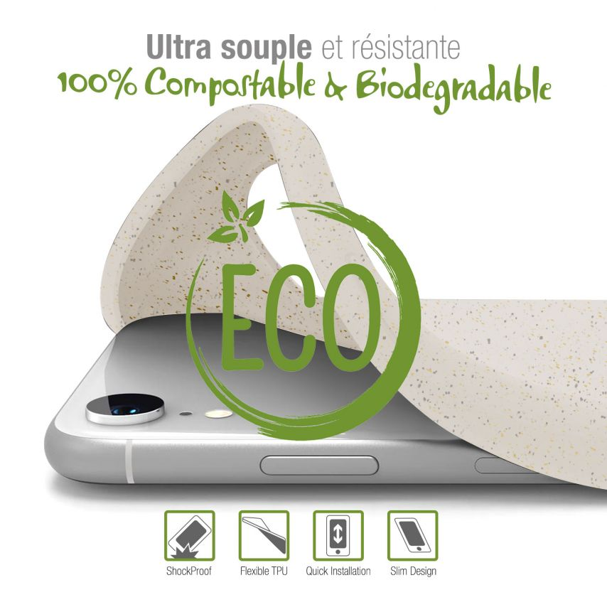 Carcasa Biodegradable ZERO Waste para Samsung Galaxy S10 Blanca