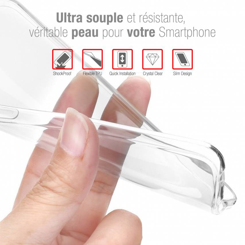 "Carcasa Extra Fina 1 mm Flexible Crystal Clear para Wiko Y60 (5.45"")"
