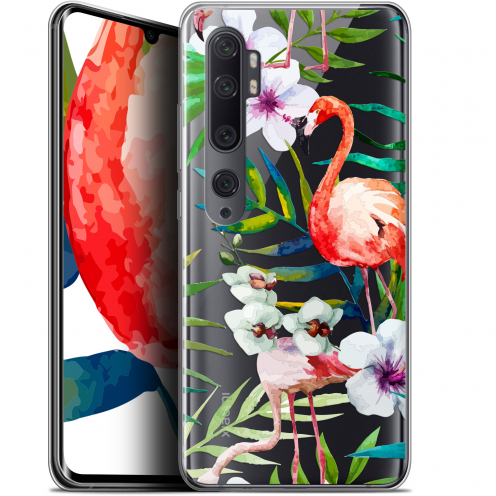 "Carcasa Gel Extra Fina Xiaomi Mi Note 10 / Pro (6.47"") Watercolor Tropical Flamingo"