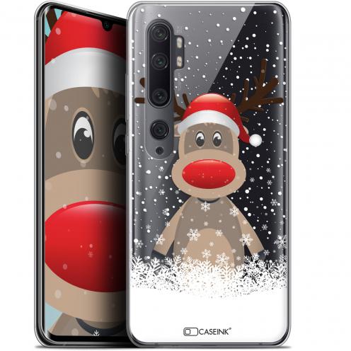 "Carcasa Gel Extra Fina Xiaomi Mi Note 10 / Pro (6.47"") Noël 2017 Cerf au Bonnet"