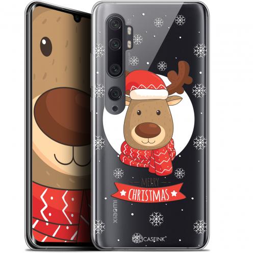 """Carcasa Gel Extra Fina Xiaomi Mi Note 10 / Pro (6.47"""") Noël 2017 Cerf à Echarpe"""