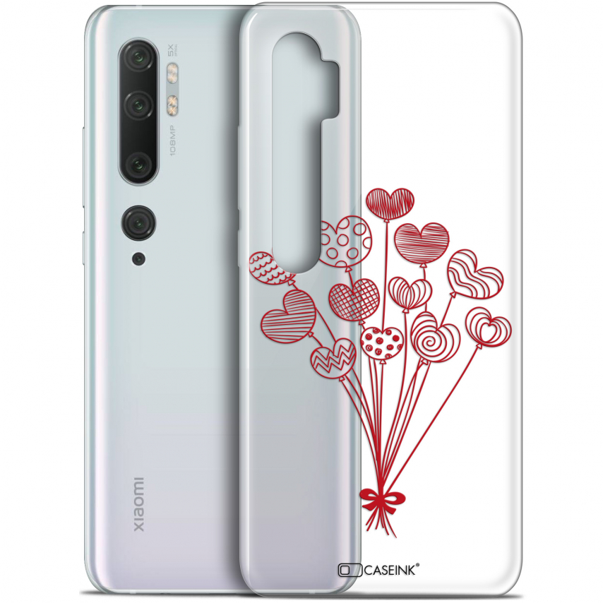 "Carcasa Gel Extra Fina Xiaomi Mi Note 10 / Pro (6.47"") Love Ballons d'amour"