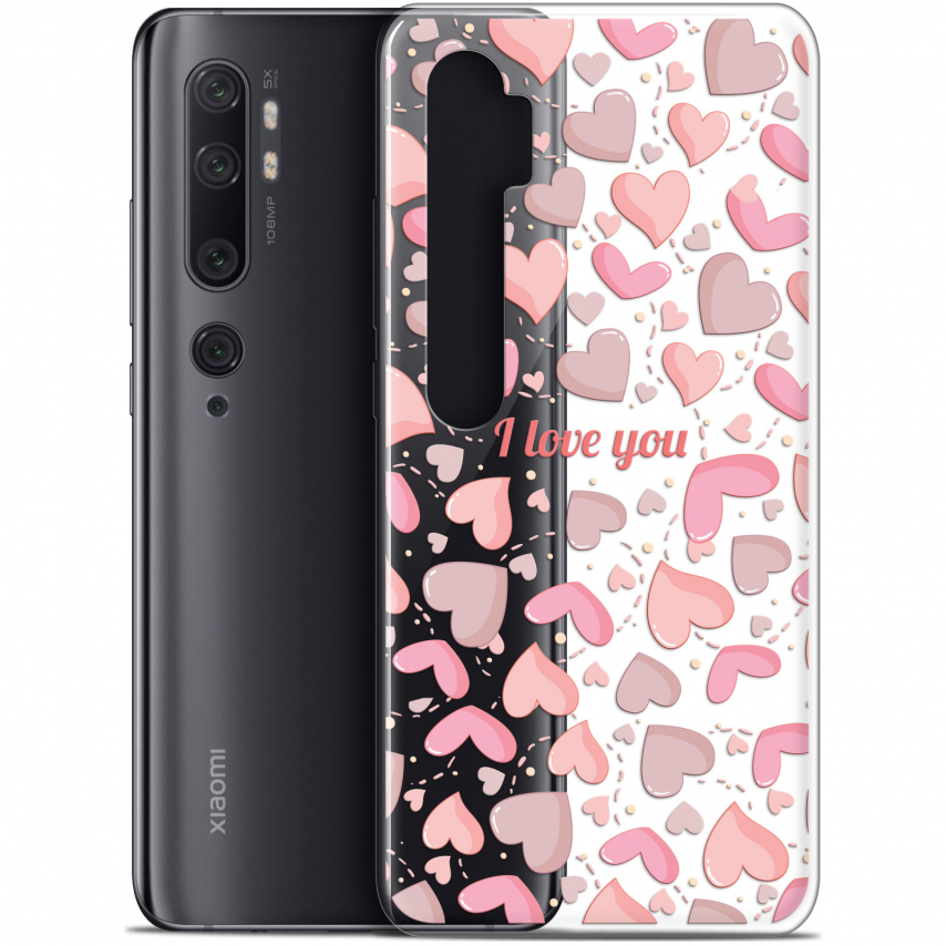 """Carcasa Gel Extra Fina Xiaomi Mi Note 10 / Pro (6.47"""") Love I Love You"""