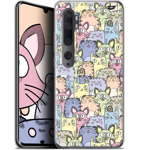 "Carcasa Gel Extra Fina Xiaomi Mi Note 10 / Pro (6.47"") Design Foule de Chats"