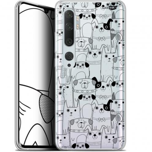 "Carcasa Gel Extra Fina Xiaomi Mi Note 10 / Pro (6.47"") Design Chien Noir"