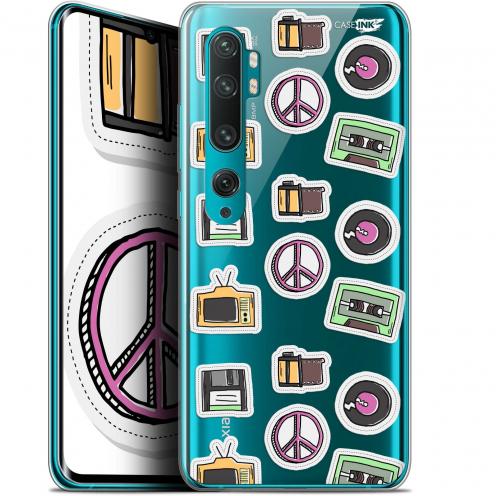 "Carcasa Gel Extra Fina Xiaomi Mi Note 10 / Pro (6.47"") Design Vintage Stickers"