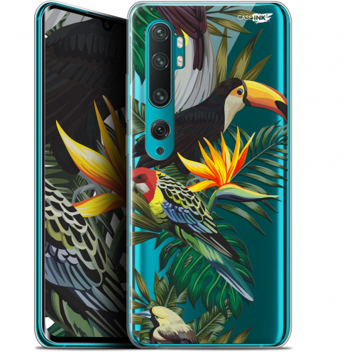 "Carcasa Gel Extra Fina Xiaomi Mi Note 10 / Pro (6.47"") Design Toucan Tropical"