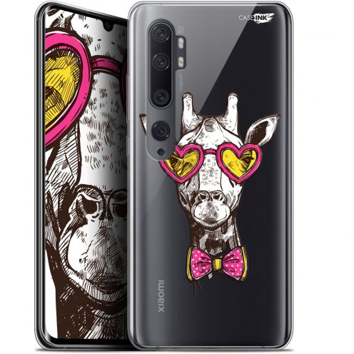 "Carcasa Gel Extra Fina Xiaomi Mi Note 10 / Pro (6.47"") Design Hipster Giraffe"