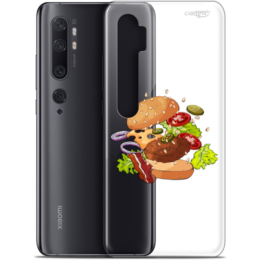 "Carcasa Gel Extra Fina Xiaomi Mi Note 10 / Pro (6.47"") Design Splash Burger"