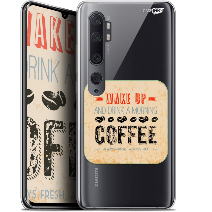 "Carcasa Gel Extra Fina Xiaomi Mi Note 10 / Pro (6.47"") Design Wake Up With Coffee"